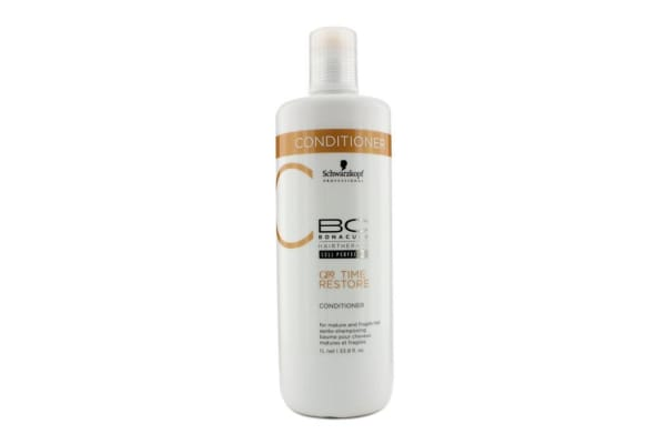 Schwarzkopf BC Time Restore Q10 Plus Conditioner - For Mature and Fragile Hair (New Packaging) (1000ml/33.8oz)