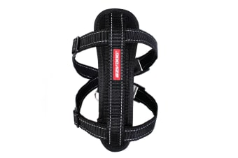 Ezydog Small Black Chest Plate Dog Harness (37cm to 60cm) Ezy Dog