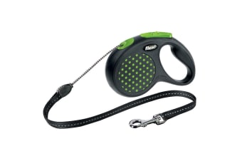 Bogdahn International Flexi Design Retractable Cord Dog Lead (Green Dot)