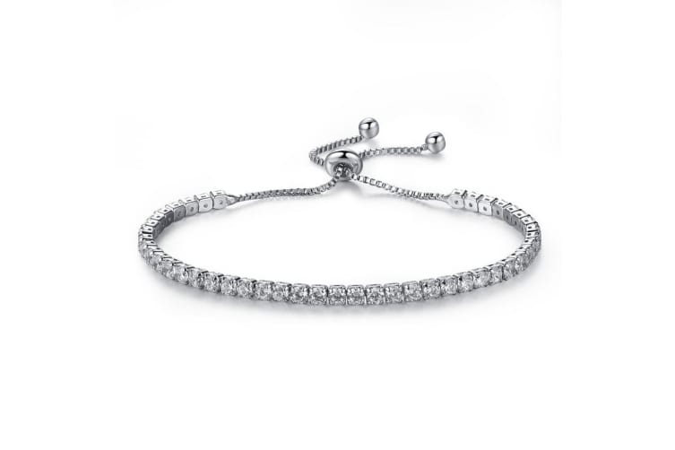 Micah Tennis Bracelet Embellished with Swarovski crystals