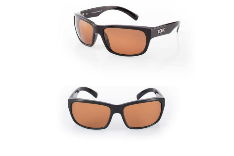 Tonic Torquay Photochromic Copper Glass Lense Fishing Sunglasses with Black Frame