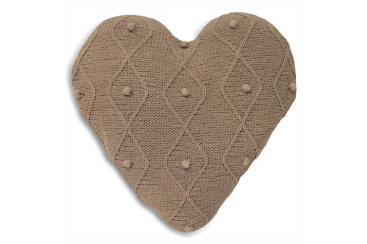 Riva Home Argyll Cushion Cover (Taupe) (Heart)