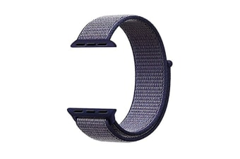 Smart Watch Band, Nylon Sport Loop Wrist Strap Replacment Band For Iwatch Series 1 /2 / 3 Blue 42Mm