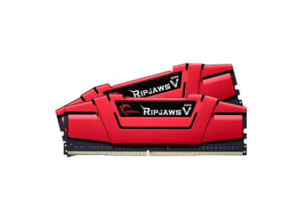 G.SKILL Memory Ripjaws V Series 8GB (2 x 4GB) DDR4 2666Mhz CL15 1.2v Red Desktop Memory  Model