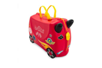 TRUNKI Ride on Kids Suitcase Luggage Toy Box ROCCO RACE CAR
