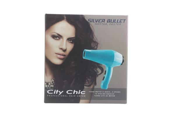 Silver Bullet City Chic 2000W Hair Dryer - Aqua  (900669)