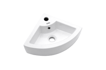 Cefito Ceramic Bathroom Corner Basin (White)