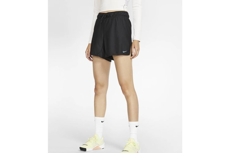 Nike Women's Dri-Fit Training Shorts (Black, Size XS)