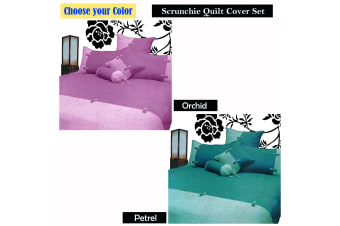 Scrunchie Orchid Quilt Cover Set by Phase 2