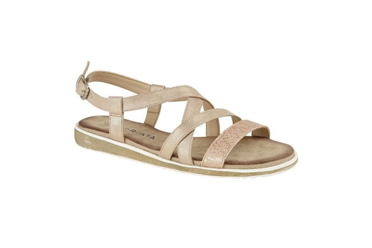 Cipriata Womens/Ladies Marcella Sandals (Rose Pink Shimmer) (6 UK)