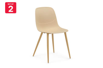 Ovela Set of 2 Brooke Dining Chairs (Beige)