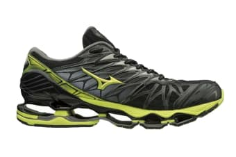Mizuno Men's WAVE PROPHECY 7 Running Shoe (Black/Lime Punch/Oark Shadow, Size 10 US)