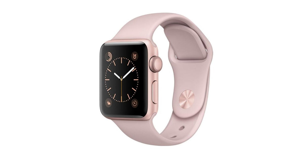 Apple Watch Series 3 (Gold, 38mm, Pink Sand Sport Band ...