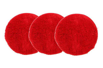 Pack of 3 Freckles Round Shag Rugs Rust