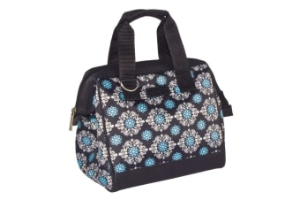 Sachi Insulated Lunch Bag carry Tote Storage Travel Bag Black Medallion