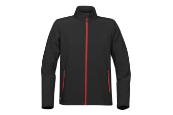 Stormtech Mens Orbiter Softshell (Black/Red) (L UK)