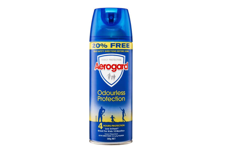 3x Aerogard 300g Adults/Kids 12m+ Odourless Insect Repellant Spray 4h Protection