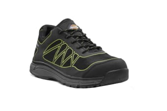 Dickies Mens Phoenix Safety Trainer (Black/Lime Green) (8 UK)