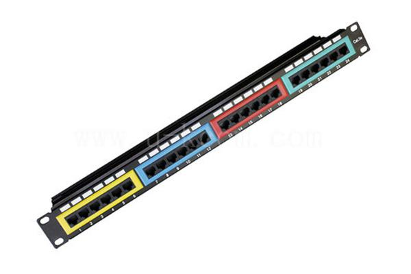 Astrotek CAT6 UTP Patch Panel 24 Port PCB Type 110 IDC Type with Color Frame in Front & Cable Management 3U' Gold Plated RoHS Black