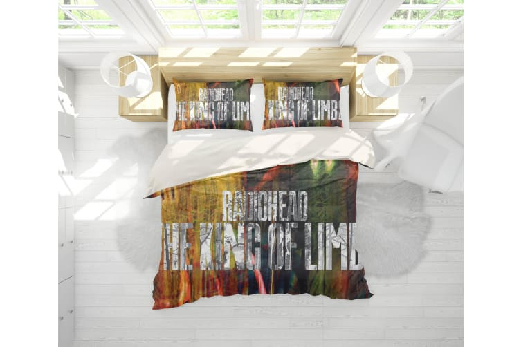 3D Band Radiohead Quilt Cover Set Bedding Set Pillowcases 72-King