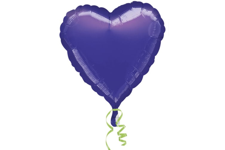 Amscan 18 Inch Plain Heart Shaped Foil Balloon (Purple) (One Size)