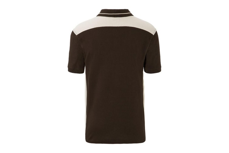 James and Nicholson Mens Workwear Level 2 Polo (Brown/Stone) (M)