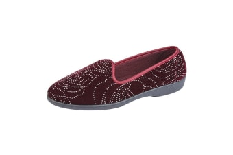 Zedzzz Womens/Ladies Beverly Slippers (Wine)