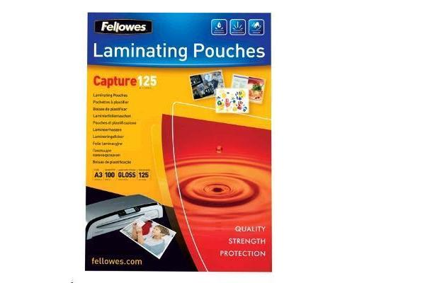 Fellowes 53075 Laminating Pouch A3 125 Micron - 100 Pack