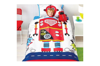 Robot Bob Double Quilt Cover Set by Cubby House Kids