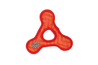 VIP Tuffy DuraForce Jr Triangle Ring Dog Toy (Red ZigZag)