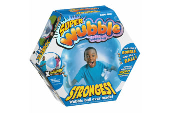 Wubble Bubble Ball Kids Super Stretch/Squishy Soft Transparent Outdoor Toy Blue
