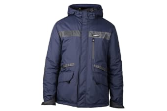 Caterpillar Mens Night Flash Workwear Reflective Jacket (Navy)