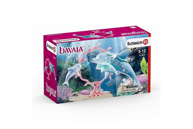 Schleich Bayala Dolphin Mum with Babies Toy Figures Set