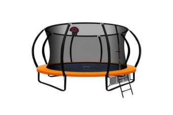 Everfit 14FT Trampoline Mat with Basketball Hoop (Orange)