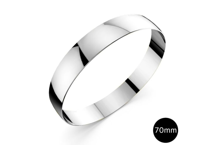 Xtra Large Bangle White Gold 70mm