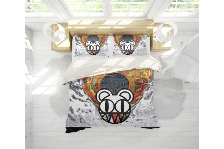 3D Band Radiohead Quilt Cover Set Bedding Set Pillowcases 51-Double