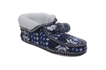 Divaz Womens/Ladies Lapland Knitted Slippers (Blue)