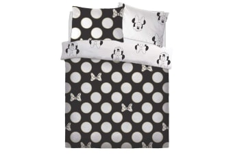 Minnie Mouse Gold Bows Duvet Set (Black/White)