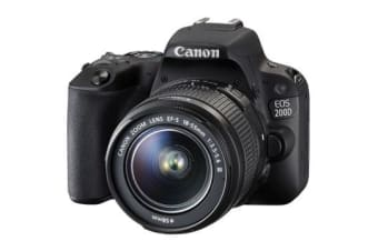 New Canon EOS 200D 24.2MP Kit (18-55 III) Digital Camera Black (FREE DELIVERY + 1 YEAR AU WARRANTY)