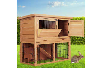Rabbit Hutch Hutches Large Metal Run Wooden Cage Chicken Coop