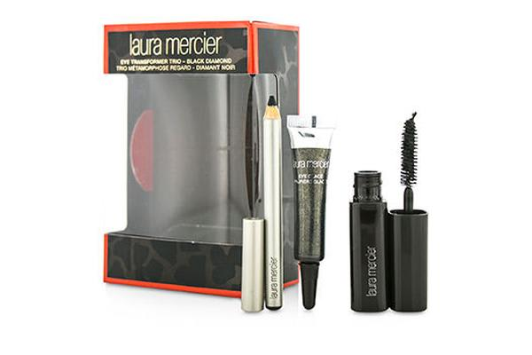 Laura Mercier Eye Transformer Trio (1x Mini Eye Glace 4g + 1x Mini Kohl Eye Pencil 0.85g + 1x Mini Mascara 5.7g) - Black Diamond (3pcs)