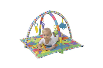 Playgro Linking Animals Play Gym/Mat/Toys/Mirror for Baby/Infants w/Teether 0m+