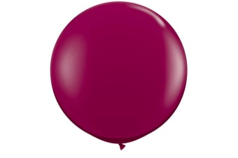 Qualatex 5 Inch Plain Latex Party Balloons (Pack Of 100) (48 Colours) (Sparkling Burgundy)