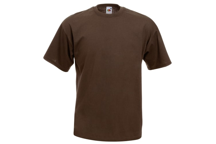 Fruit Of The Loom Mens Valueweight Short Sleeve T-Shirt (Chocolate) (M)