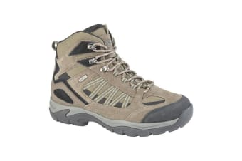 Johnscliffe Scout Mens Suede/Nylon Hiking Boot (Olive/Black)