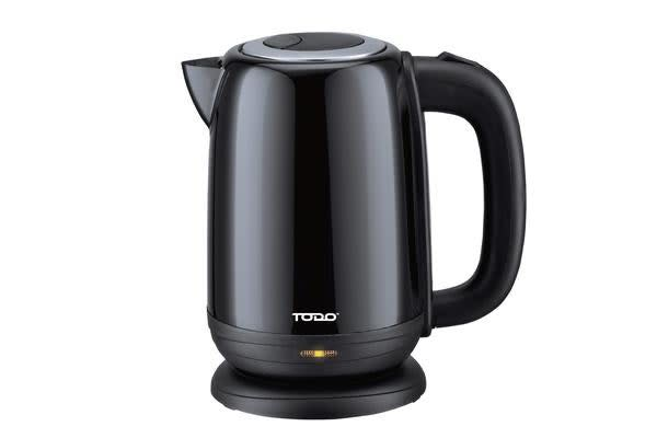 TODO 1.7L Stainless Steel Cordless Kettle 2200W Electric Water Jug Black