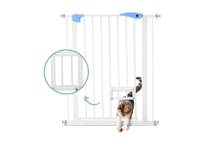 79cm High 75-85cm Wide Adustable Baby Safety Gate Dog Stair Barrier