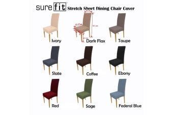 Surefit Dining Chair Cover - Dark Flax by Surefit