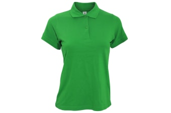 B&C Safran Pure Ladies Short Sleeve Polo Shirt (Kelly Green)