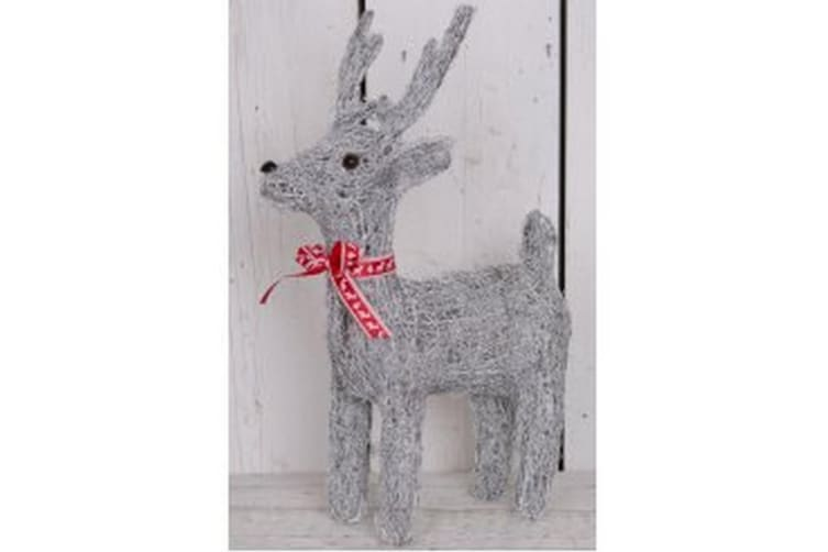 Grey Woven Reindeer (May Vary) (72 x 49 x 25.5cm)